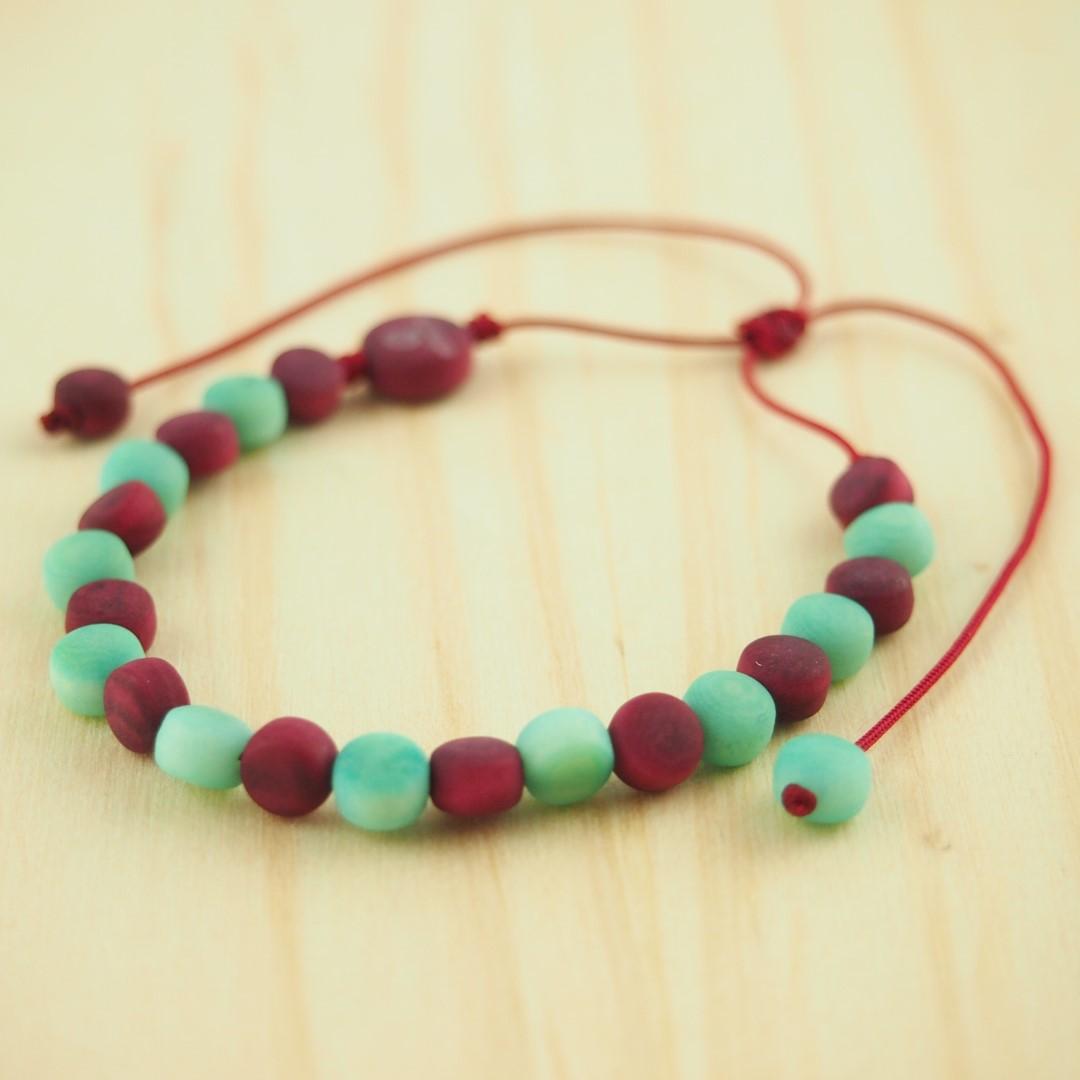 bracelet en ivoire v g tal milano mente violet fait main. Black Bedroom Furniture Sets. Home Design Ideas