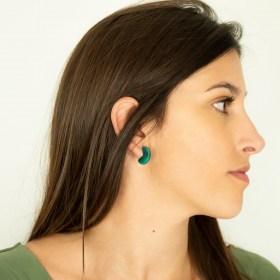 Boucles d′oreilles en ivoire végétal Profil-Cir faites main | Canard