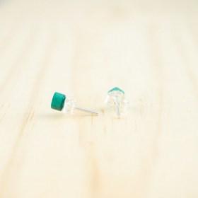 Boucles d′oreilles puces en ivoire végétal et argent 925 Coletoile faites main | Canard