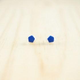 Boucles d′oreilles puces en ivoire végétal et argent 925 Coletoile faites main | Bleues