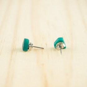 Boucles d′oreilles puces en ivoire végétal Colidia faites main | Canard