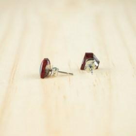 Boucles d′oreilles puces en Calebasse séchée faites main Cari-Dia | Pic :  Violet - Bleu