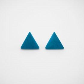 Boucles d'oreilles en ivoire végétal triangles Arpia faites main | Turquoise