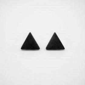 Boucles d′oreilles triangles ARPIA noir faits main éthique