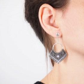 Boucles d'oreilles Cadres Opale faits main éthique