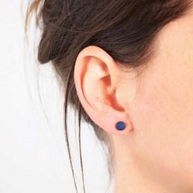 Boucles d′oreilles COLIBRI bleu faits main éthique