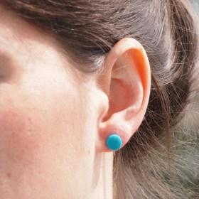 Boucles d'oreilles COLIBRI turquoise faits main éthique