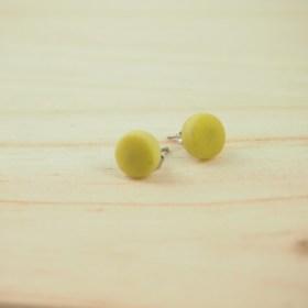 Boucles d′oreilles COLIBRI jaune citron faits main éthique