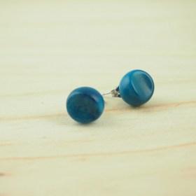 Boucles d'oreilles FOCHA bleu faits main éthique