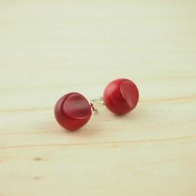 Boucles d'oreilles FOCHA rouge faits main éthique