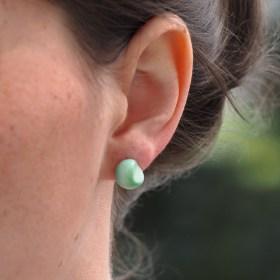 Boucles d'oreilles FOCHA vert faits main éthique