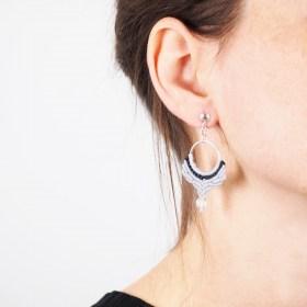 Boucles d'oreilles Cristaux quartz faits main éthique