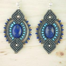 Boucles d'oreilles Zampullin Lapis-lazuli faits main ethique