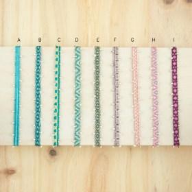 Bracelets 40 fils et argent 925 faits main fins waterproof |Pibi 2 REV : Turquoise - Verts - Roses