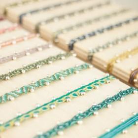 Bracelets 40 fils et argent 925 faits main fins waterproof |Pibi 2 REV : Noirs - Gris - Bleus -Marrons