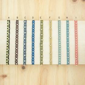 Bracelets 40 fils et argent 925 faits main fins |Pibi REV :Noirs -Bleus -Jaunes - Corail