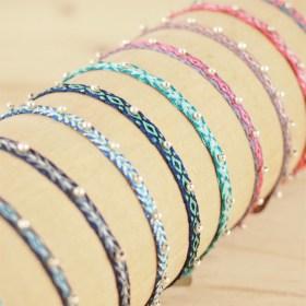 Bracelets 40 fils et argent 925 Pibi faits main fins |Mar / Fuego