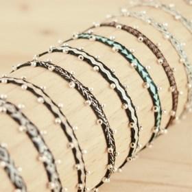 Bracelets Telar 40 fils  et Argent PIBI 2 Aire faits main