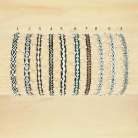 Bracelets 40 fils et argent 925 faits main fins |Carte - Je t′aime