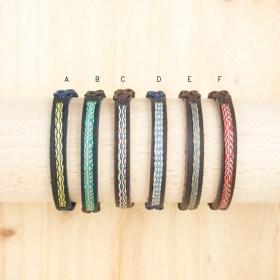 Bracelets 40 fils faits main | Pava REV Cuir : Multicolore