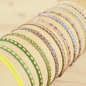 Bracelets 40 fils Pava faits main fins | Tierra : Marrons - Verts
