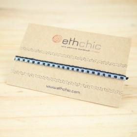Bracelets 40 fils faits main fins solides | Pava REV : Bleus - Turquoise - Jaunes
