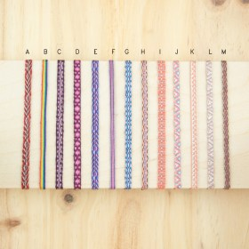 Bracelets 40 fils faits main fins solides | Pava REV : Rouges - Violets - Roses
