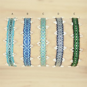 Bracelets Telar 80 fils et perles en argent 925  PIBI 3 faits main fins