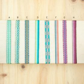 Bracelets 80 fils faits main fins | Pava REV : Verts -Turquoise - Corail - Violet