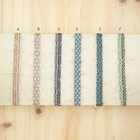 Bracelets 80 fils et perles en argent 925 faits main fins | Pibi 3 REV :Miel - Marrons - Argent - Noirs