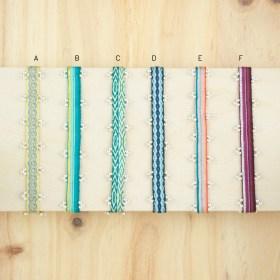 Bracelets 80 fils et perles en argent 925 faits main fins | Pibi 3 REV :Doré - Turquoise - Corail