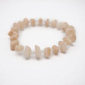 Bracelet homme en ivoire végétal Rok fait main | Blanc