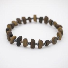 Bracelet homme en ivoire végétal Rok fait main | Vert Kaki