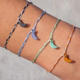 Bracelets fins réglables en ivoire végétal Tressi | Lune