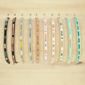 Bracelet fin perles en verre Miyuki fait main | Multicolore