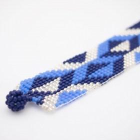 Bracelet perles Bramita V fait main |Bleu - Argent