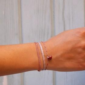 Bracelets fins réglables en calebasse séchée Toty | Cœur