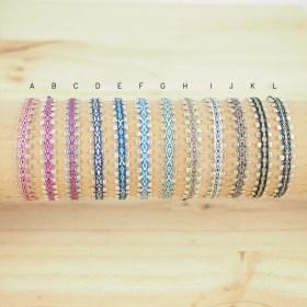 Bracelets 40 fils et argent 925 Piny faits main fins