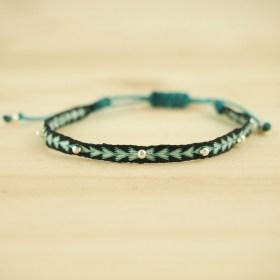 Bracelets Telar 40 fils  et Argent PIBI Aire y Tierra faits main