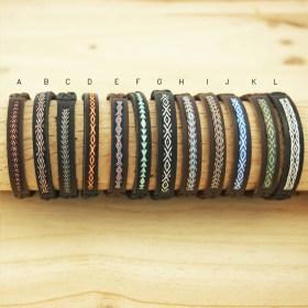 Bracelets Telar 40 fils PAVA CUIR faits main