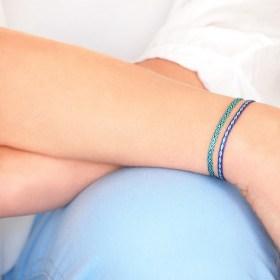 Bracelets 40 fils Pava faits main fins | Mar : Bleus - Turquoises