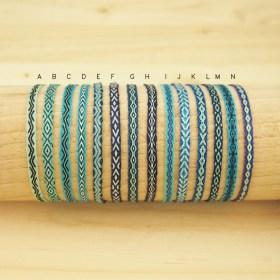 Bracelets Telar 40 fils PAVA Mar faits main