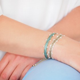 Bracelets 80 fils faits main Pibi 3 | Carte - Je t′aime maman