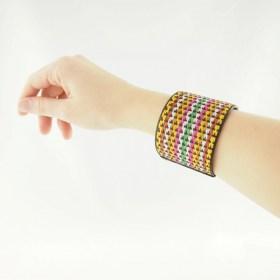 Bracelet fibre caña flecha FUMAREL POLI 50 fait main