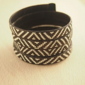 Bracelet fibre caña flecha FUMAREL Spirale B fait main