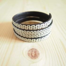 Bracelet fibre caña flecha FUMAREL Spirale D fait main