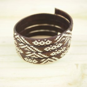 Bracelet fibre caña flecha FUMAREL Spirale C fait main