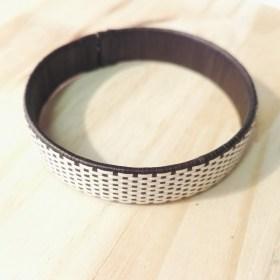 Bracelet fibre naturelle FUMAREL noir fait main 10D