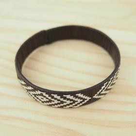 Bracelet fibre naturelle FUMAREL noir fait main 10I