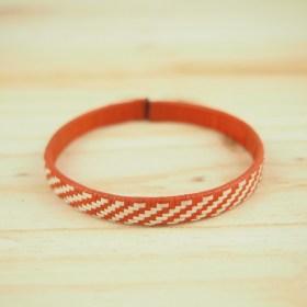 Bracelet fibre naturelle FUMAREL 5A éthique fait main rouge